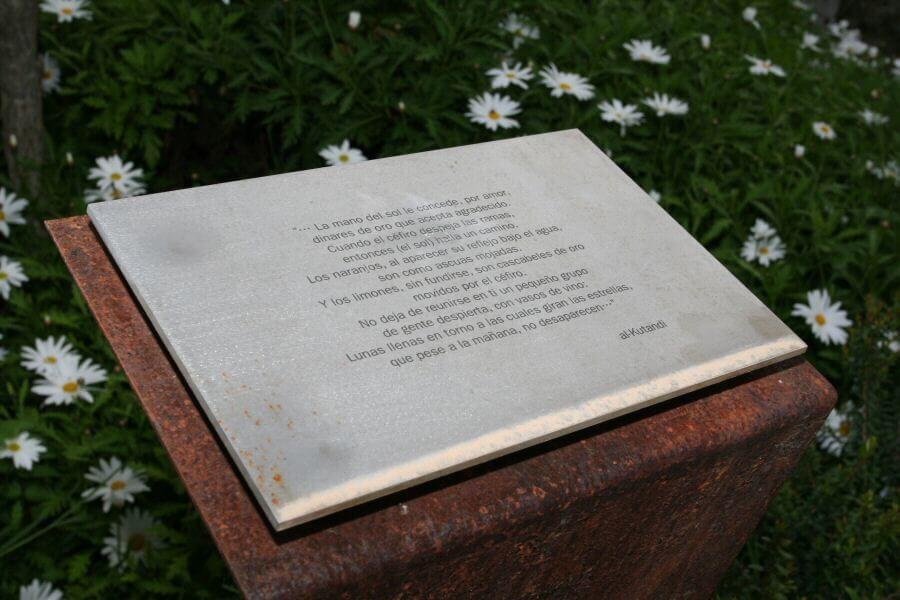 Señalética para el Jardín Nazarí de Vélez de Benaudalla